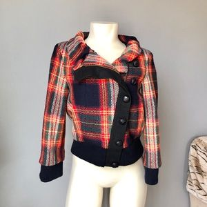 L.AM.B 2008 plaid 3/4 length sleeve jacket